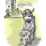 meditating viking