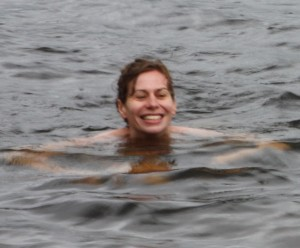 swimming in randsfjord
