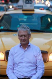 Roy meditating plus taxi