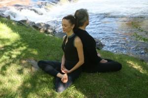 Meditating back to back